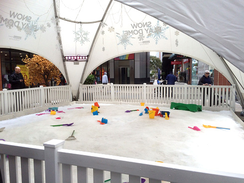 Snow play dome